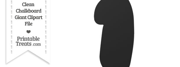 Clean Chalkboard Giant Bubble Number 1 Clipart