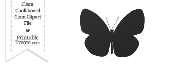 Clean Chalkboard Giant Butterfly Clipart