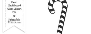 Clean Chalkboard Giant Candy Cane Clipart