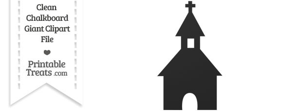 Clean Chalkboard Giant Church Steeple Clipart