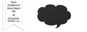 Clean Chalkboard Giant Cloud Talk Bubble Clipart