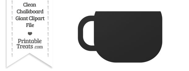 Clean Chalkboard Giant Coffee Cup Clipart
