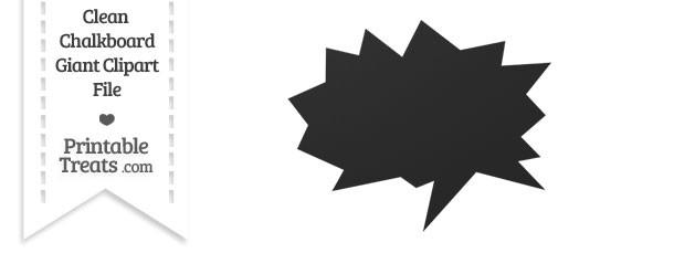 Clean Chalkboard Giant Comic Book Speech Bubble Clipart
