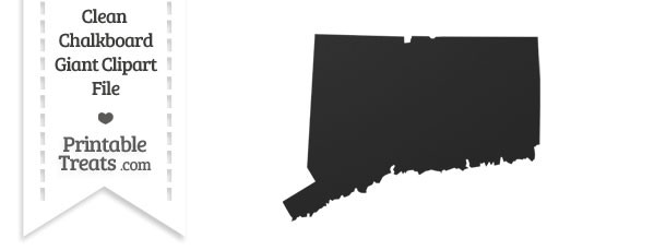 Clean Chalkboard Giant Connecticut State Clipart
