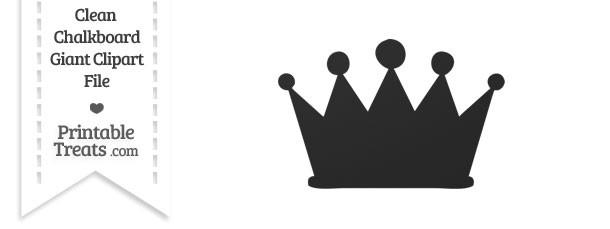 Clean Chalkboard Giant Crown Clipart