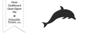 Clean Chalkboard Giant Dolphin Clipart