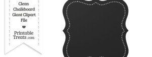 Clean Chalkboard Giant Dotted Fancy Label Clipart