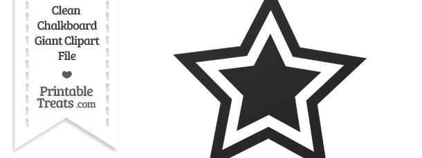 Clean Chalkboard Giant Double Star Clipart