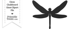 Clean Chalkboard Giant Dragonfly Clipart