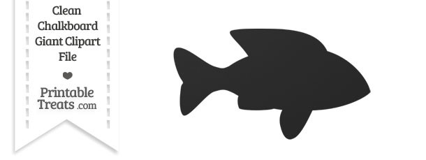 Clean Chalkboard Giant Fish Clipart
