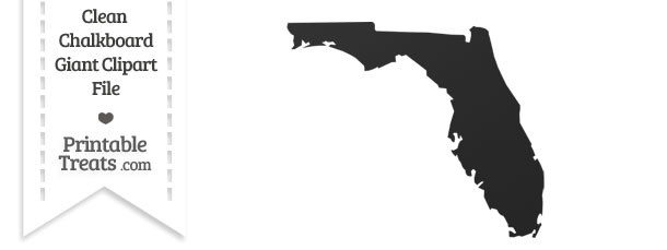 Clean Chalkboard Giant Florida State Clipart