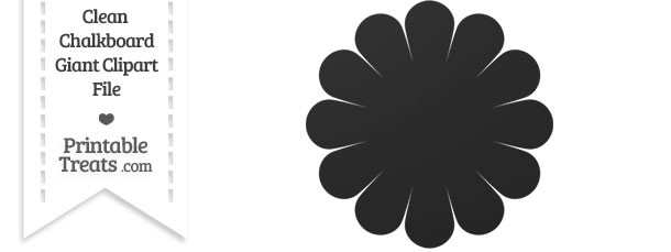 Clean Chalkboard Giant Flower Clipart