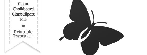 Clean Chalkboard Giant Flying Butterfly Clipart
