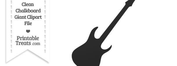 Clean Chalkboard Giant Guitar Clipart