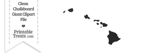 Clean Chalkboard Giant Hawaii State Clipart