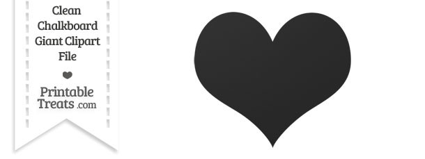 Clean Chalkboard Giant Heart Card Symbol Clipart