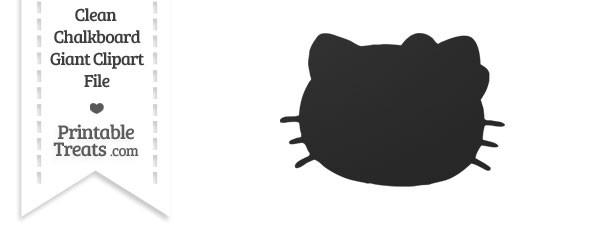 Clean Chalkboard Giant Hello Kitty Head Clipart