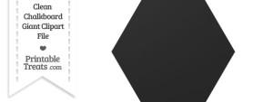Clean Chalkboard Giant Hexagon Clipart