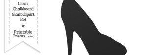 Clean Chalkboard Giant High Heel Clipart