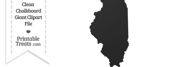 Clean Chalkboard Giant Illinois State Clipart