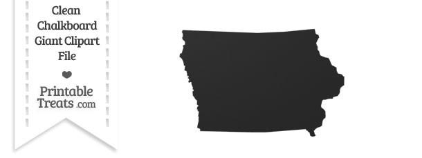 Clean Chalkboard Giant Iowa State Clipart