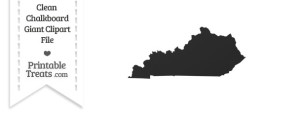 Clean Chalkboard Giant Kentucky State Clipart