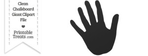Clean Chalkboard Giant Left Hand Clipart