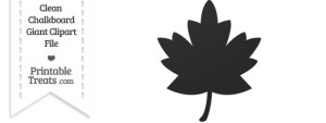 Clean Chalkboard Giant Maple Leaf Clipart