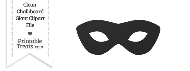 Clean Chalkboard Giant Masquerade Mask Clipart