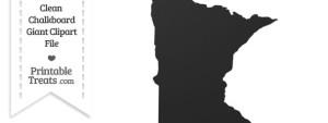 Clean Chalkboard Giant Minnesota State Clipart