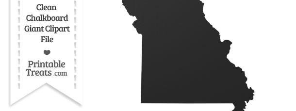 Clean Chalkboard Giant Missouri State Clipart