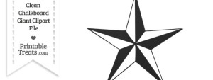 Clean Chalkboard Giant Nautical Star Clipart