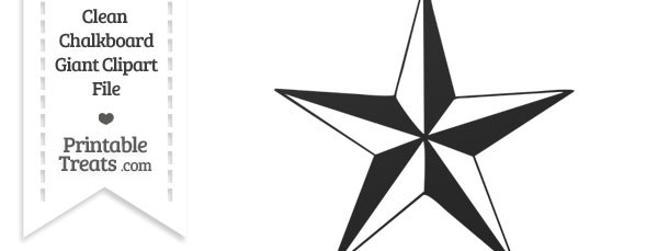 Clean Chalkboard Giant Nautical Star Clipart