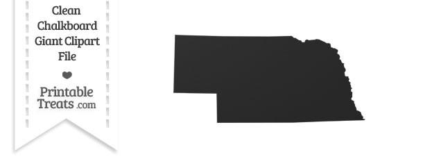 Clean Chalkboard Giant Nebraska State Clipart