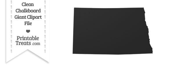 Clean Chalkboard Giant North Dakota State Clipart