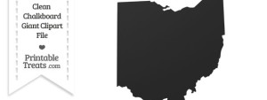 Clean Chalkboard Giant Ohio State Clipart