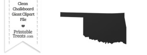 Clean Chalkboard Giant Oklahoma State Clipart