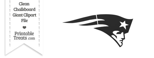 Clean Chalkboard Giant Patriots Logo Clipart