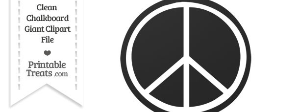 Clean Chalkboard Giant Peace Sign Clipart