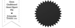 Clean Chalkboard Giant Seal Clipart