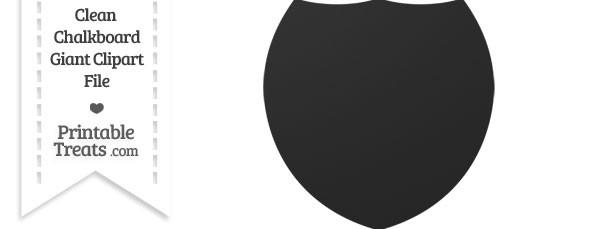 Clean Chalkboard Giant Shield Clipart