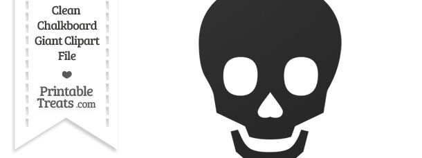 Clean Chalkboard Giant Skull Clipart