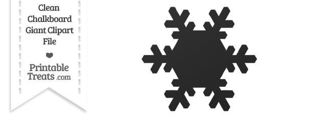 Clean Chalkboard Giant Snowflake Clipart