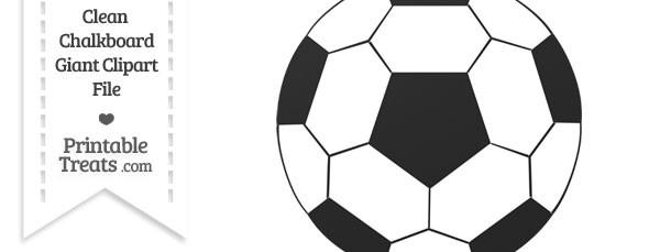 Clean Chalkboard Giant Soccer Ball Clipart