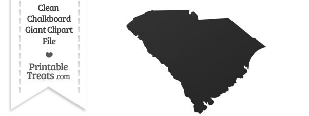 Clean Chalkboard Giant South Carolina State Clipart