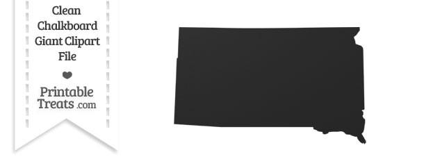 Clean Chalkboard Giant South Dakota State Clipart