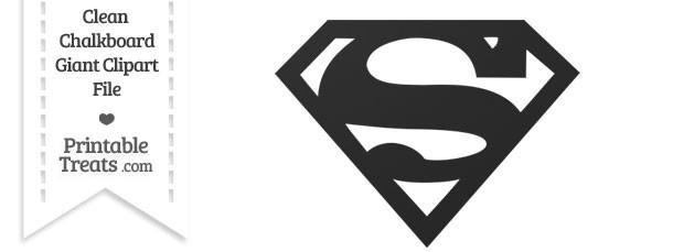 Clean Chalkboard Giant Superman Symbol Clipart