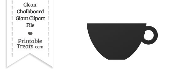 Clean Chalkboard Giant Teacup Clipart
