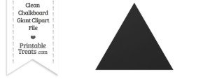 Clean Chalkboard Giant Triangle Clipart
