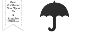 Clean Chalkboard Giant Umbrella Clipart